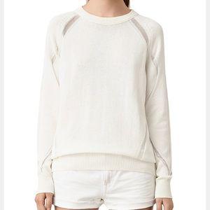 ALL SAINTS | lanta ladder stitch sweater cream s